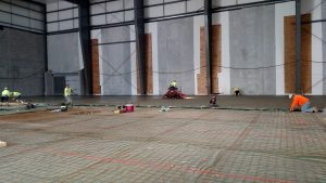 Additional concrete work in field house