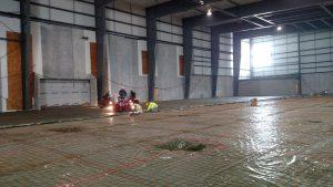Concrete work in field house
