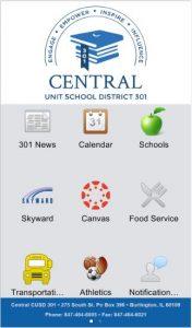 Mobile App Main Screen